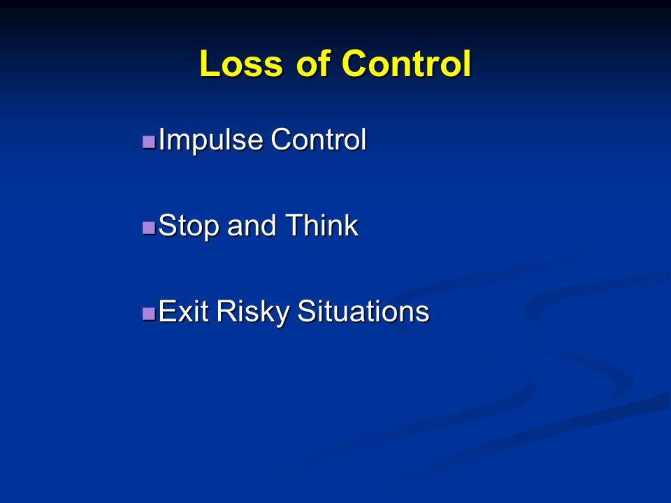 Loss of Control Interviews 20 Violent Offenders Interviews 20 Violent Offenders Meaning Units = Phrases Meaning Units = Phrases Loss of Control 12% (Polaschek et a., 2010)