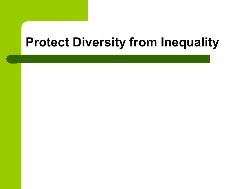 Protect Diversity from Inequality