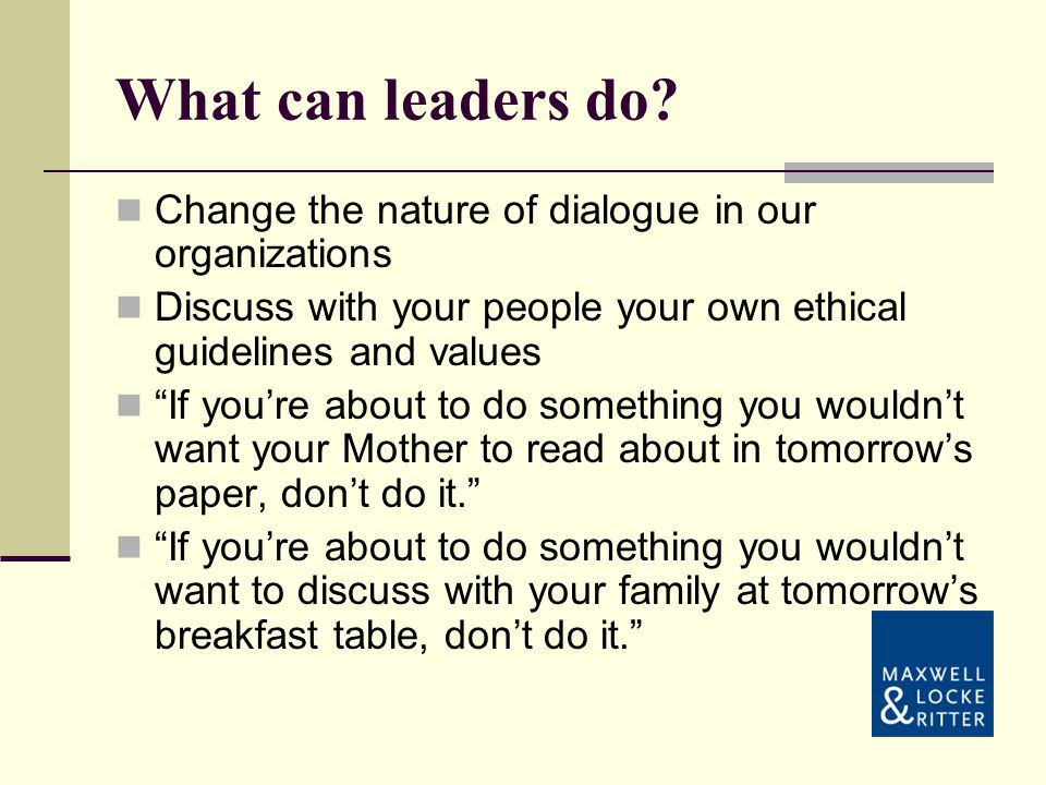 What can leaders do.