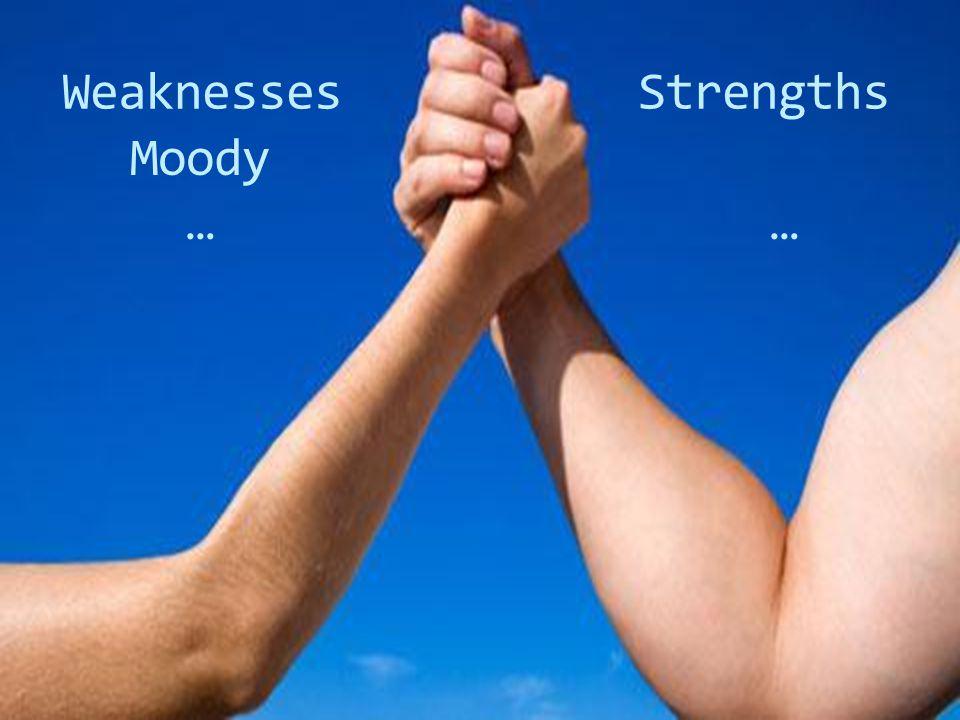 WeaknessesStrengths Moody ……