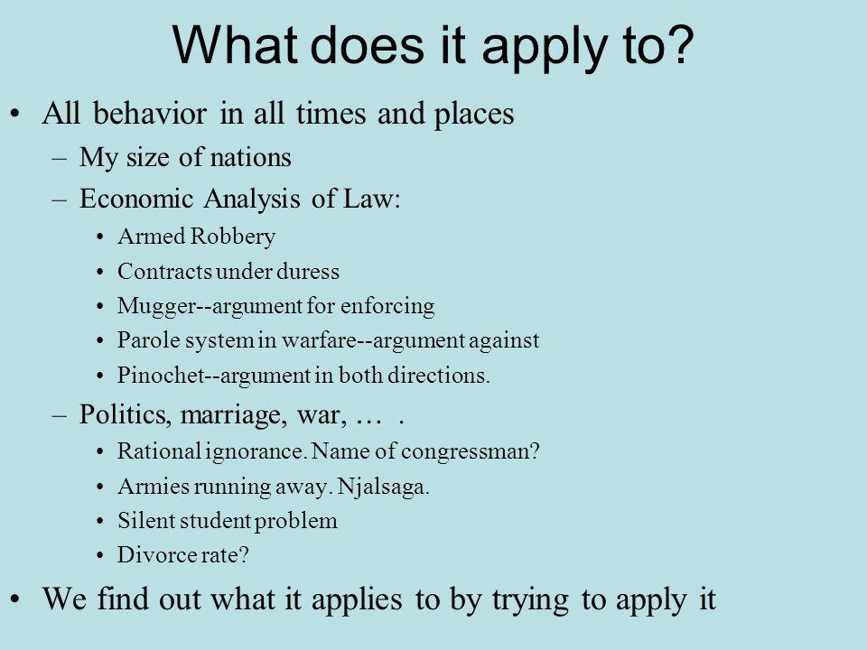 Conventional Applications Explicit markets, prices, inflation, unemployment, etc.