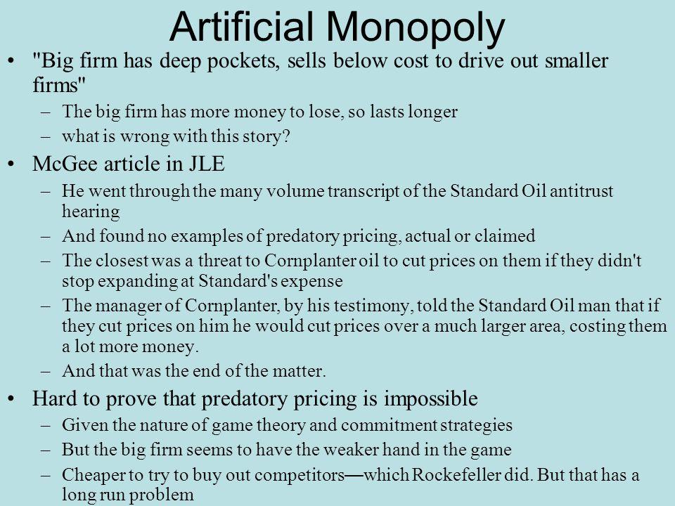 Artificial Monopoly