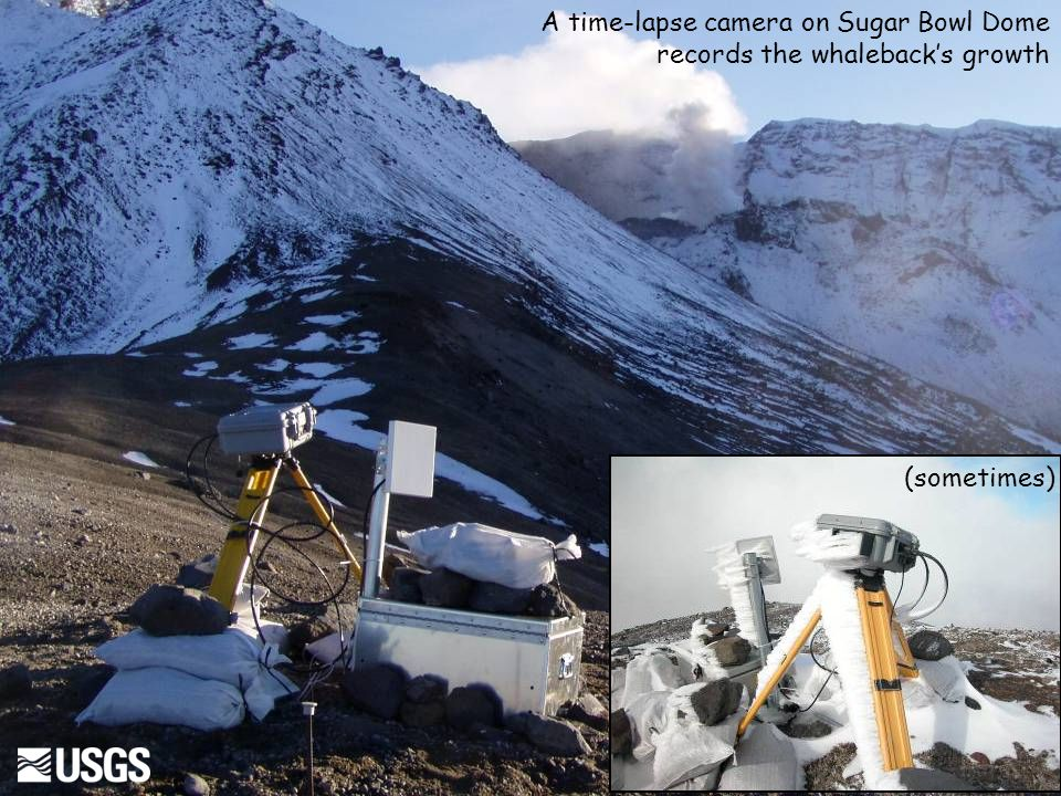 A time-lapse camera on Sugar Bowl Dome records the whaleback's growth (sometimes)