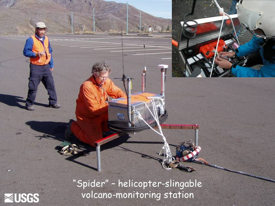 Spider – helicopter-slingable volcano-monitoring station