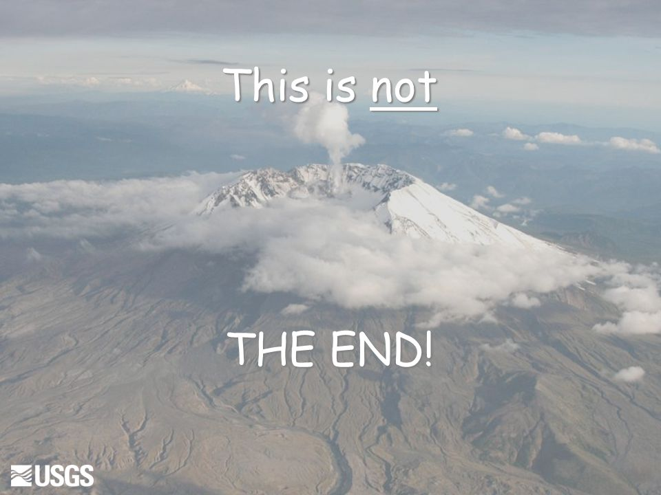 This is not THE END!