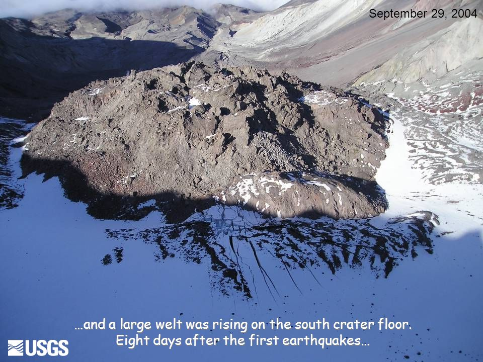 By October 1… October 1, 2004 Mount St. Helens' first eruption of the 21st century was underway!