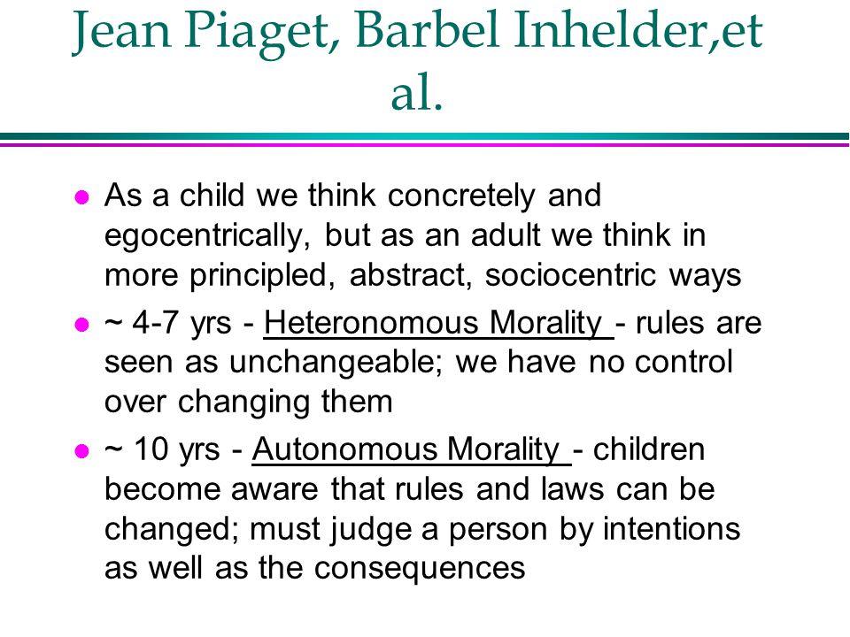 Jean Piaget, Barbel Inhelder,et al.