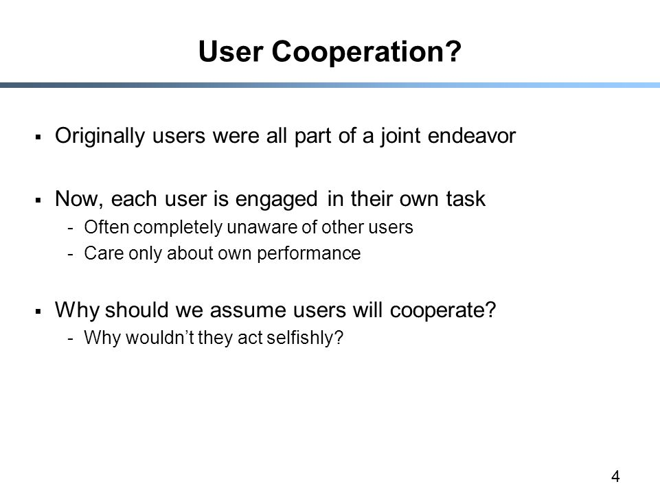 4 User Cooperation.
