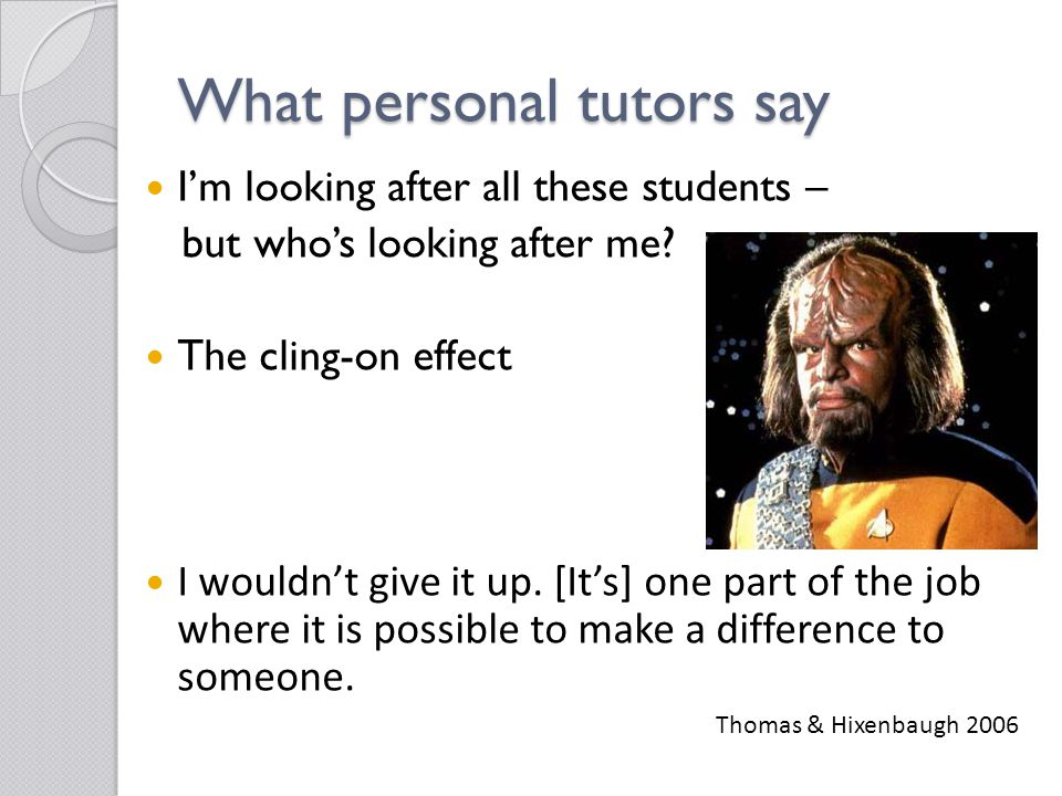What personal tutors say I'm looking after all these students – but who's looking after me.