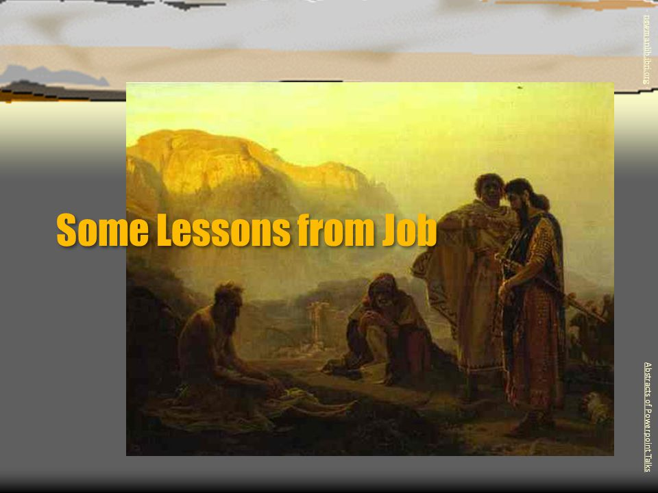 Some Lessons from Job Abstracts of Powerpoint Talks - newmanlib.ibri.org -newmanlib.ibri.org