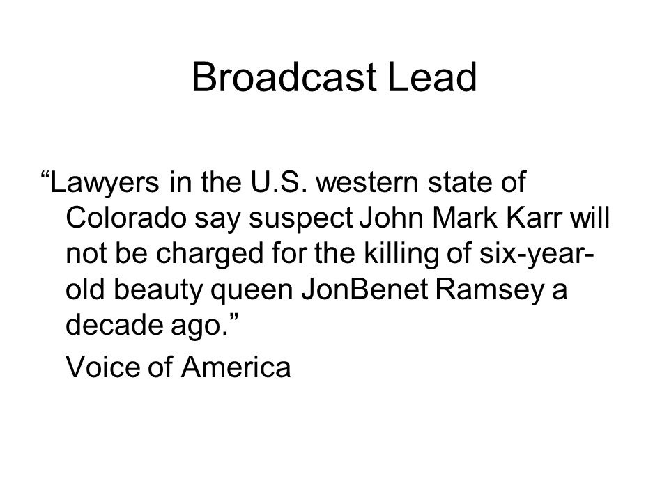Broadcast Lead Lawyers in the U.S.