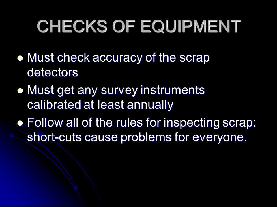 Detector Sensitivity