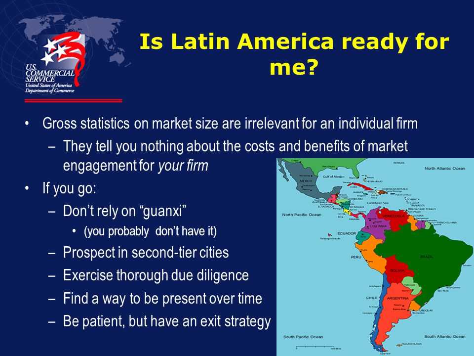 Colombia Fifth largest market for U.S.