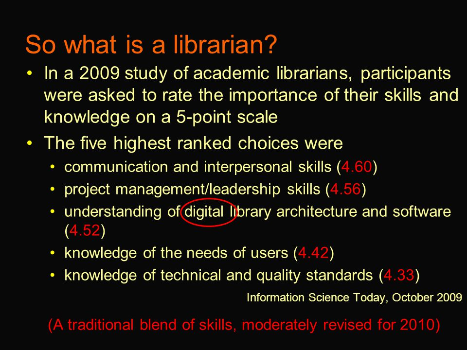 So what is a librarian.