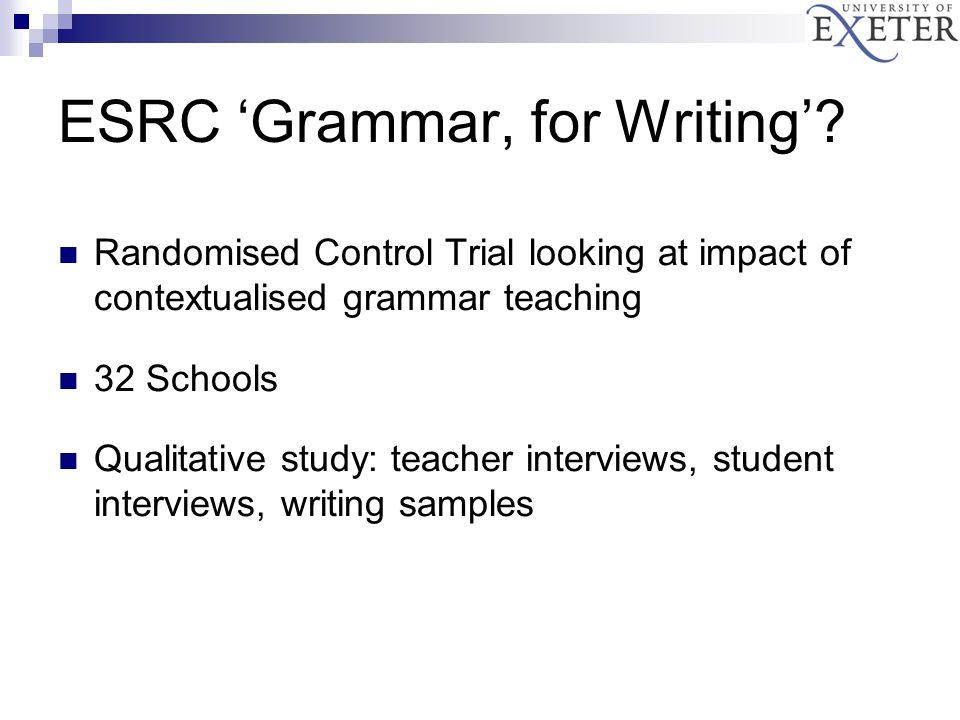 ESRC 'Grammar, for Writing'.