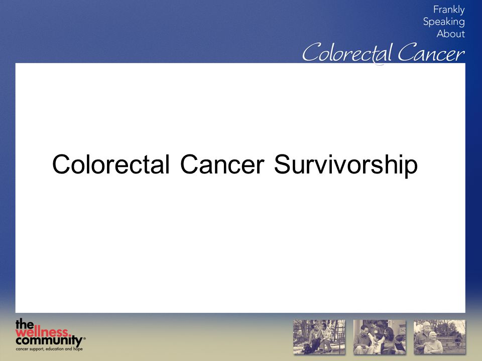 Colorectal Cancer Survivorship