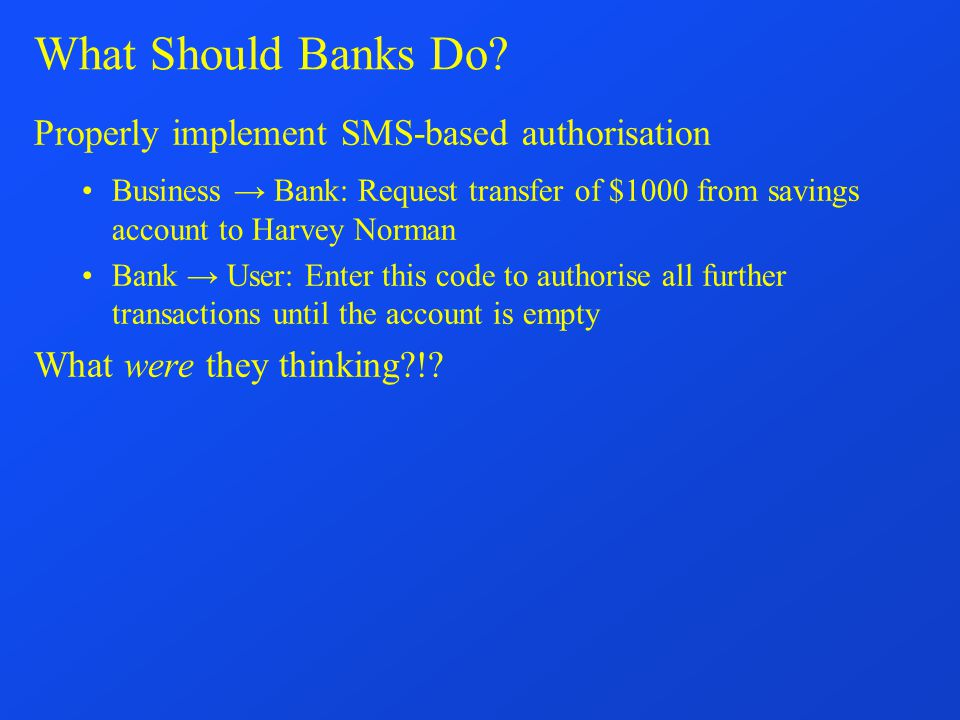 What Should Banks Do.