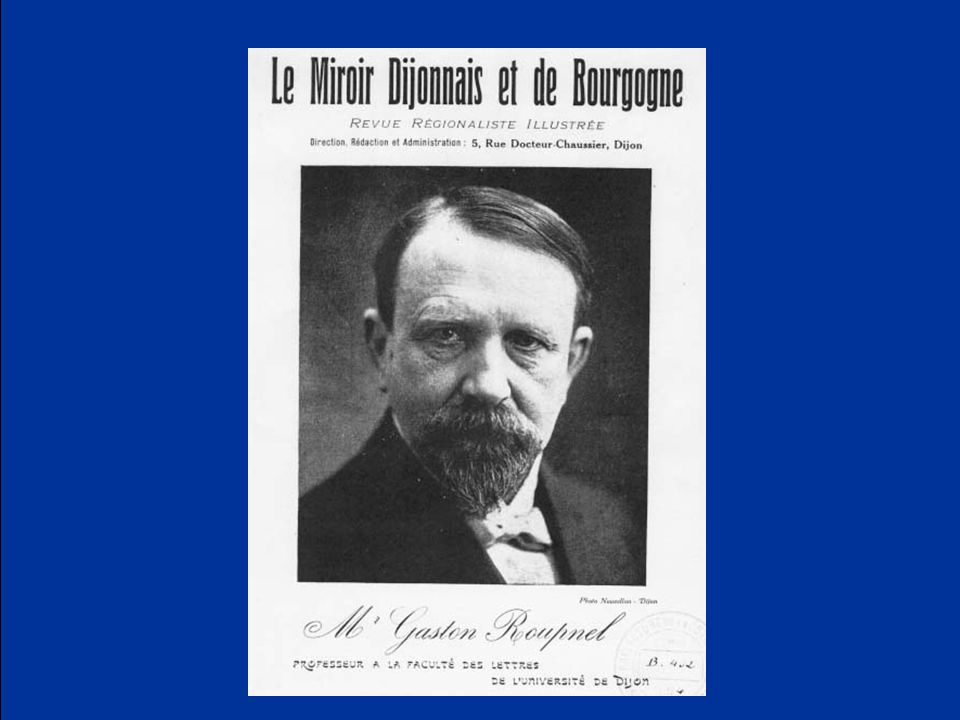 Roupnel reached the summit of his unique professional and personal celebrity with the publication of l'Histoire de la campagne française in 1932.