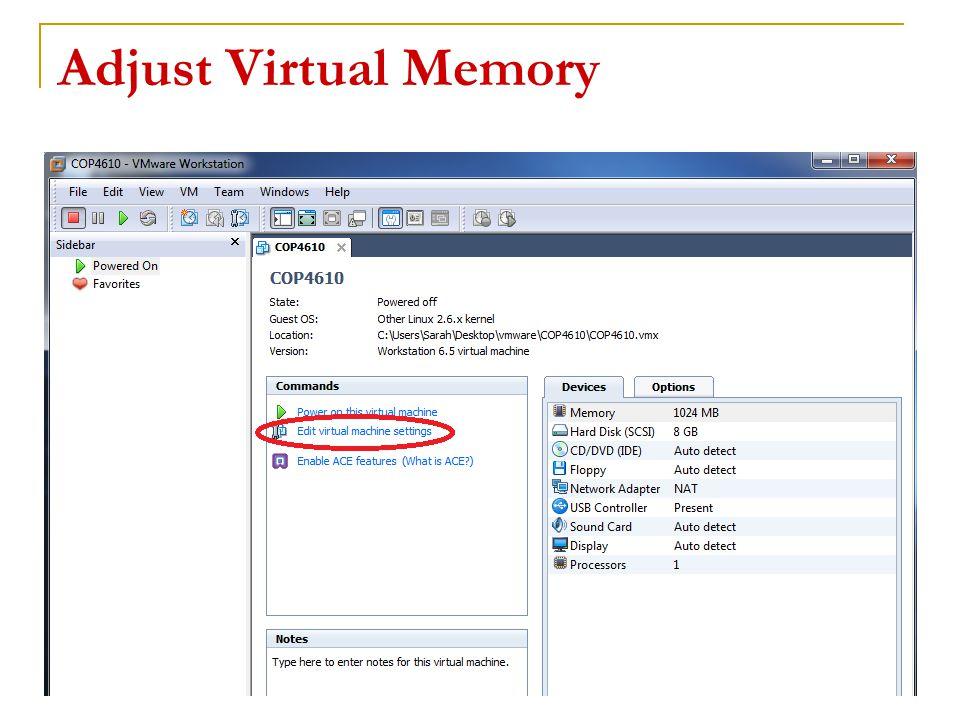 Adjust Virtual Memory 16