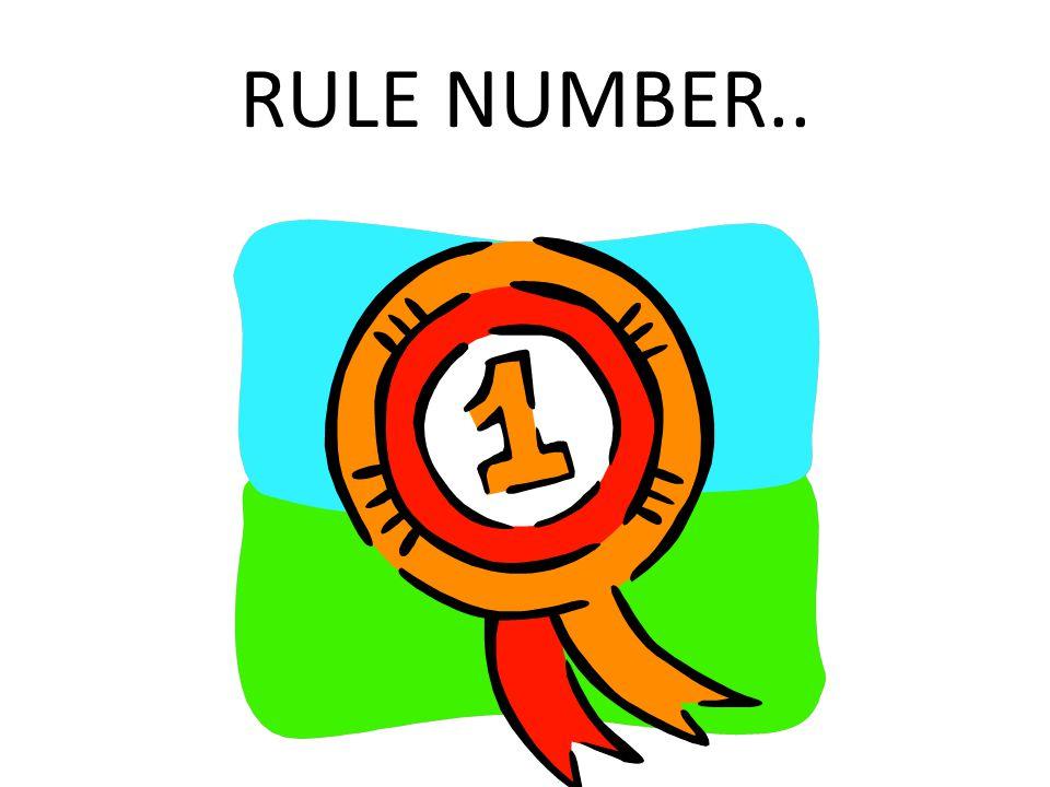 RULE NUMBER..
