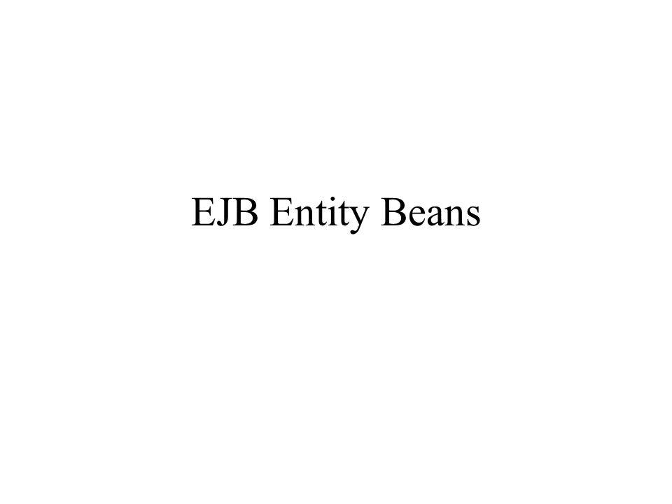 EJB Entity Beans