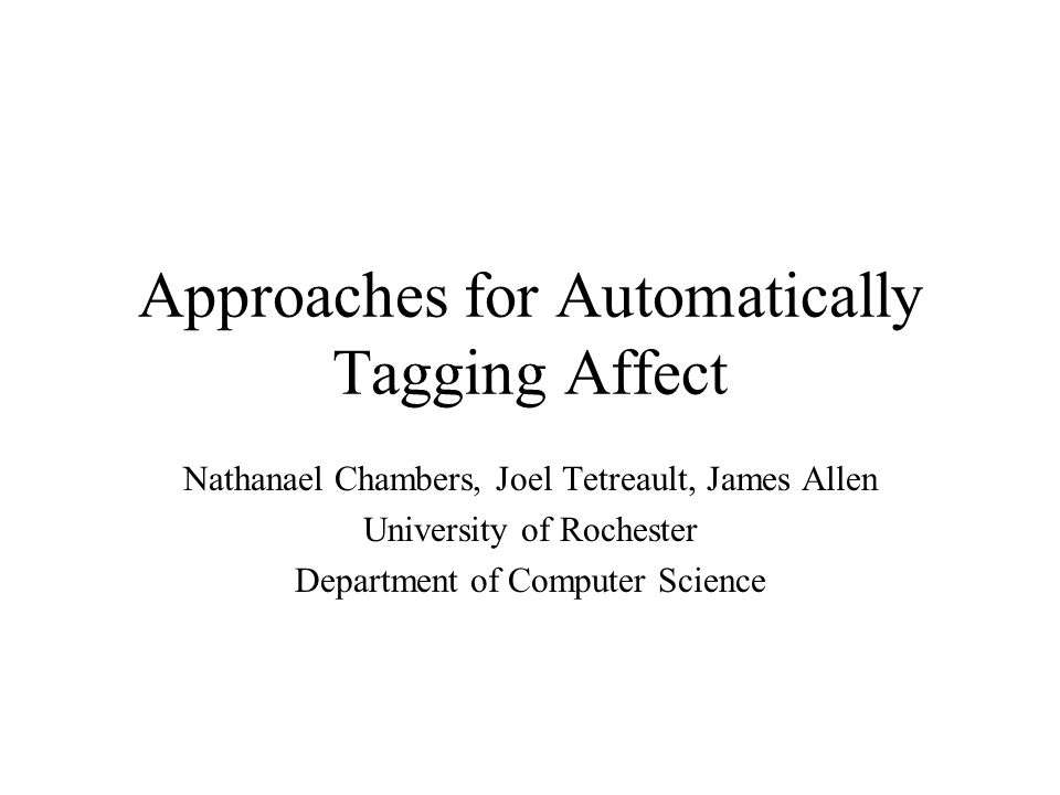 Affective Computing Why use computers to detect affect.
