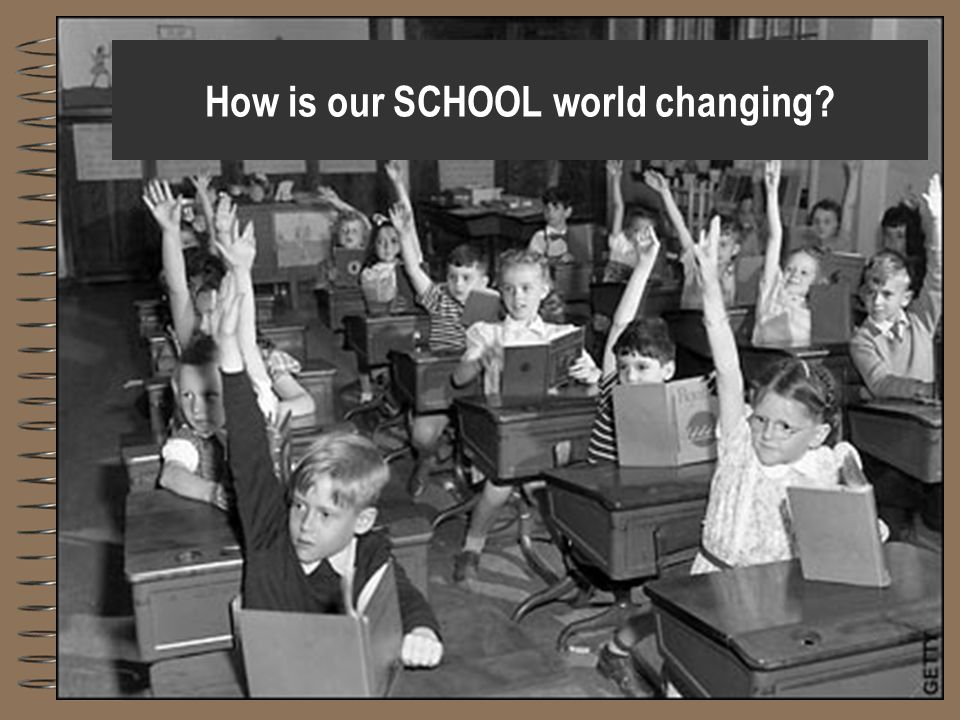 How is our SCHOOL world changing?