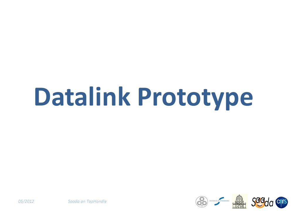 Datalink Prototype 05/2012Saada an TapHandle
