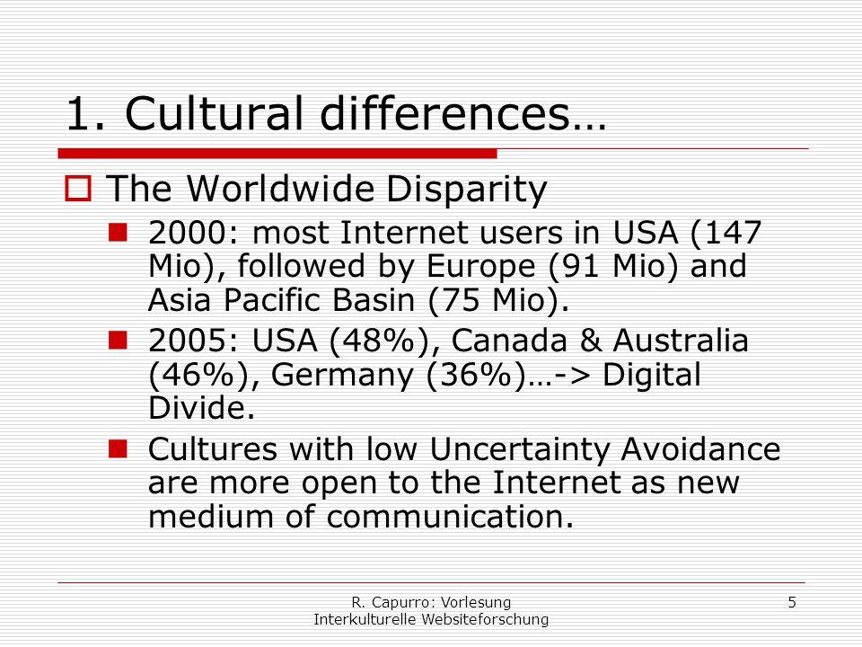 R. Capurro: Vorlesung Interkulturelle Websiteforschung 5 1.