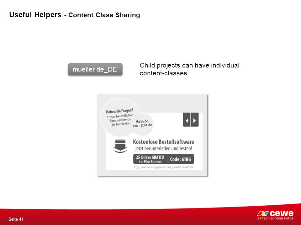 mueller de_DE Child projects can have individual content-classes.