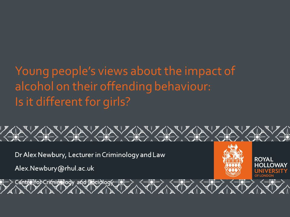 Young people's views about the impact of alcohol on their offending behaviour: Is it different for girls.