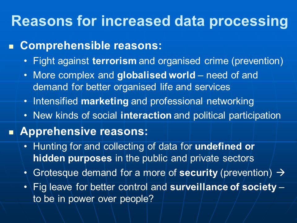 Where do we leave tracks on personal data, inter alia.