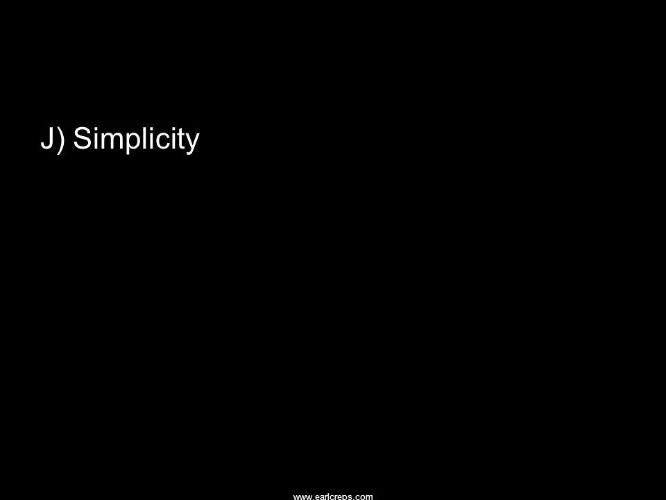 www.earlcreps.com J) Simplicity