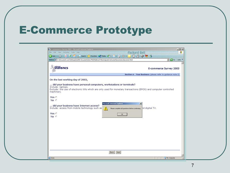 7 E-Commerce Prototype