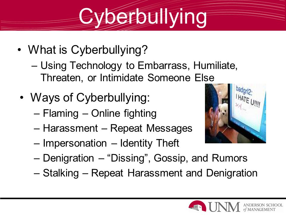 Ways to Prevent Cyberbullying Never Pass Along Harmful or Cruel Messages Do Not Respond Tell Parent or Adult About Any Cyberbullying Tell Friends Who Are Cyberbullying to Stop Never Give Out Any Personal Information