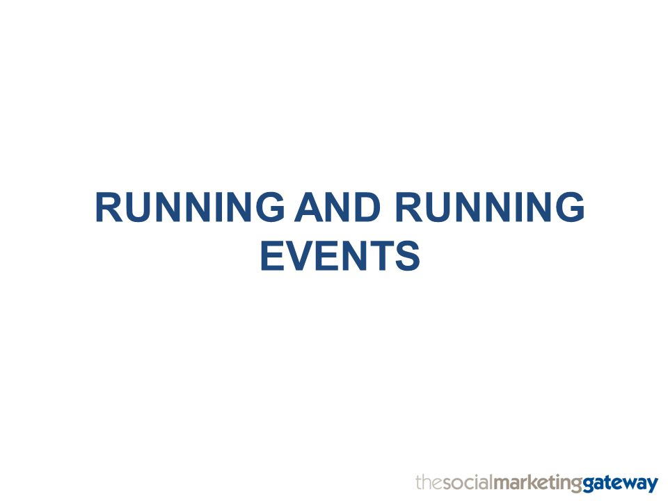 RUNNING AND RUNNING EVENTS