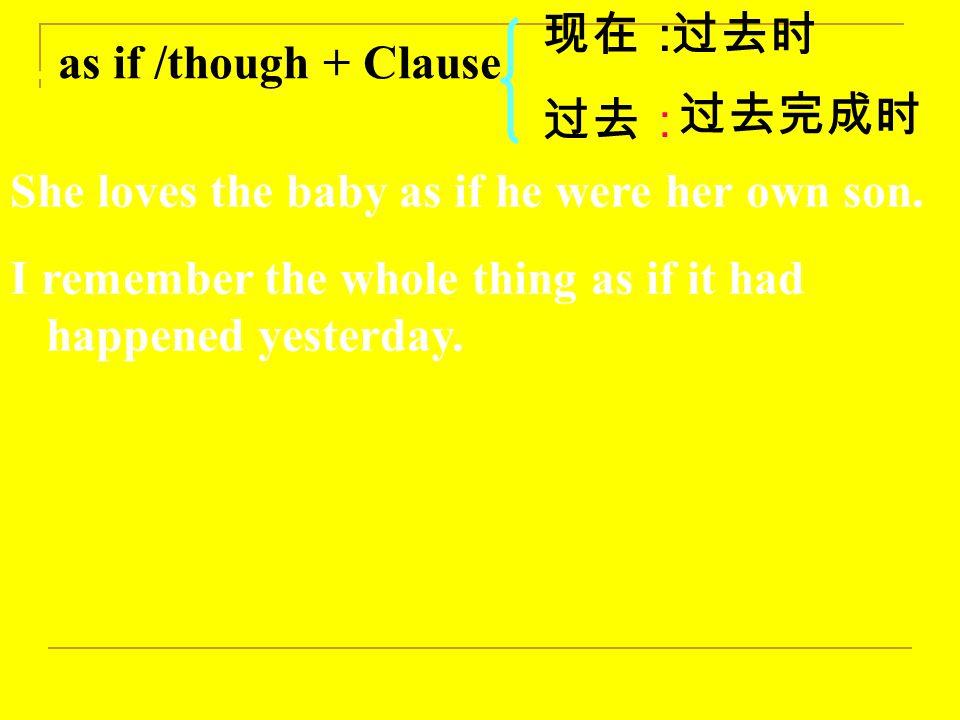 二:虚拟语气特殊句型: 1.Wish 的宾语 从句 现在: 过去: 未来: 过去时( were ) 过去完成时 would/could/might+V.