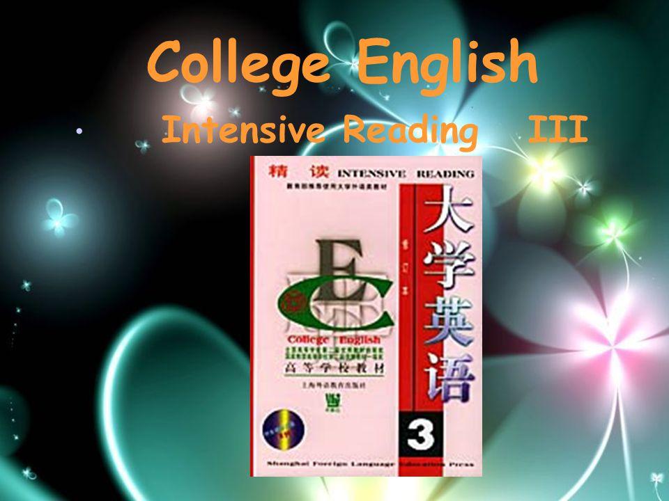 Intensive Reading III College English