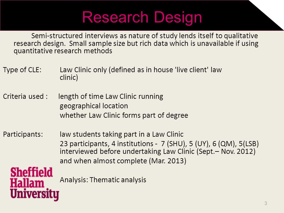 Semi-structured interviews as nature of study lends itself to qualitative research design.