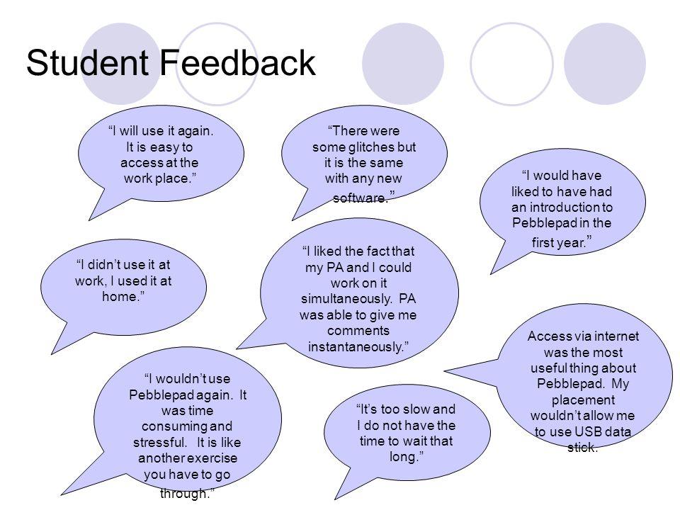 Examples of students' webfolios http://www.pebblepad.co.uk/kent/webfolio.aspx?webfolioid=12526