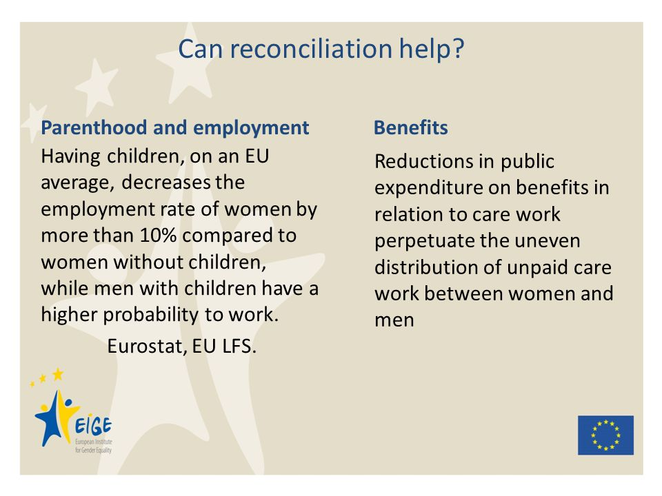 Can reconciliation help.