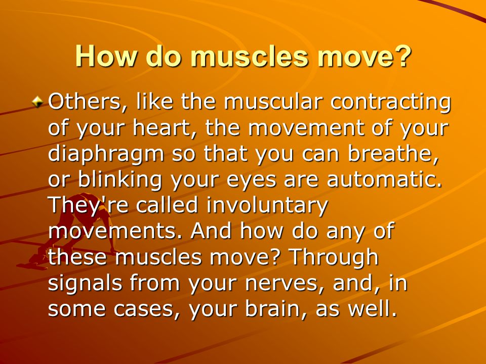 How do muscles move.