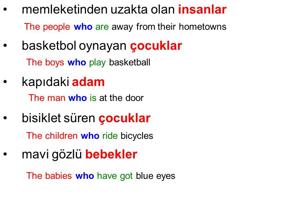 memleketinden uzakta olan insanlar basketbol oynayan çocuklar kapıdaki adam bisiklet süren çocuklar mavi gözlü bebekler The people who are away from t