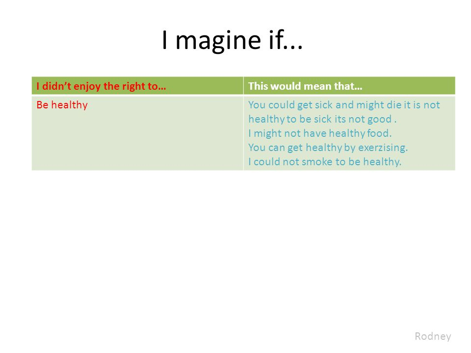 I magine if...