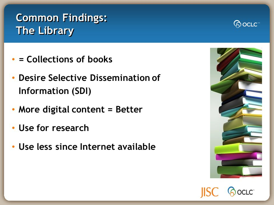 Information literacy skills lacking Information literacy not kept pace with digital literacy Researchers self-taught & confident Conclusions