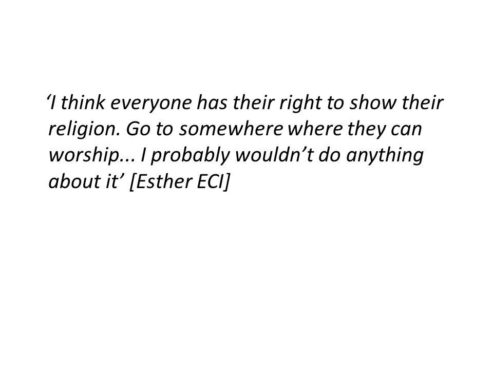 'I think everyone has their right to show their religion.