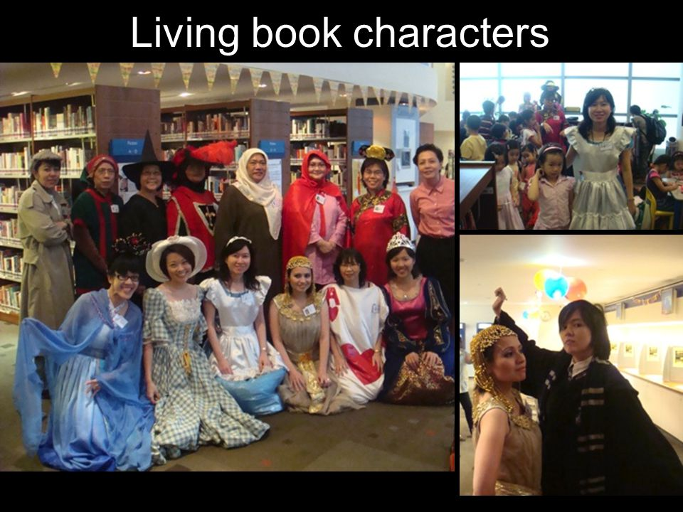 Living book characters