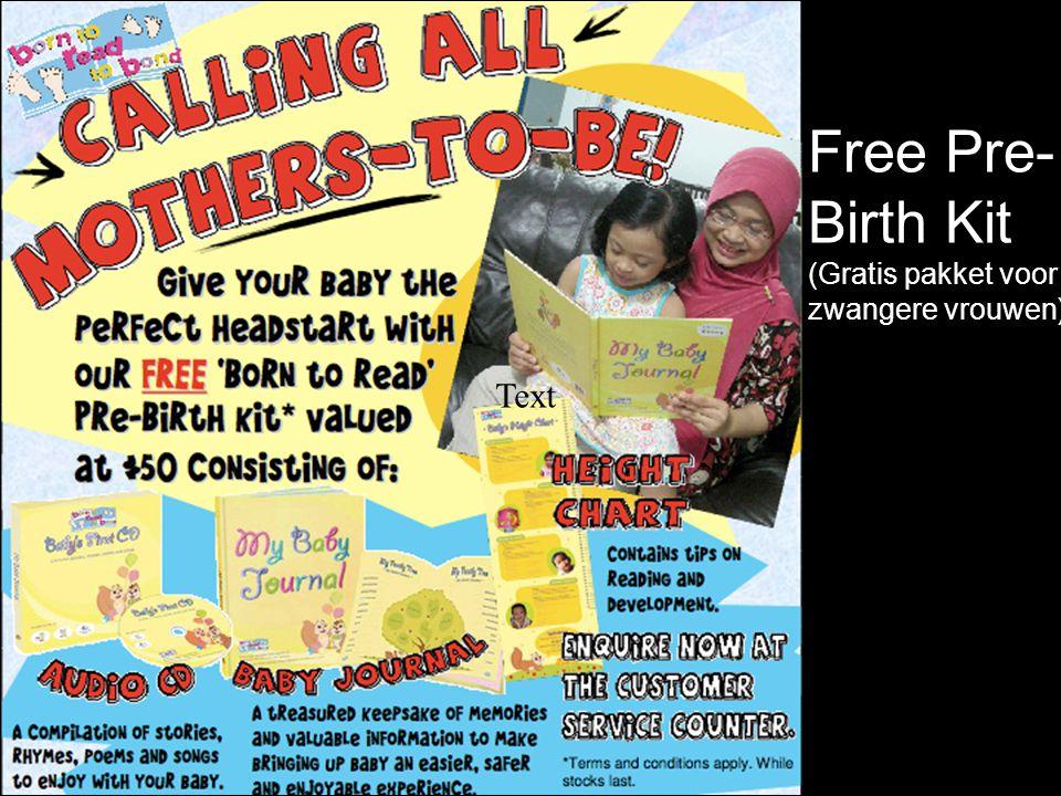 24 Free Pre- Birth Kit (Gratis pakket voor zwangere vrouwen) Text