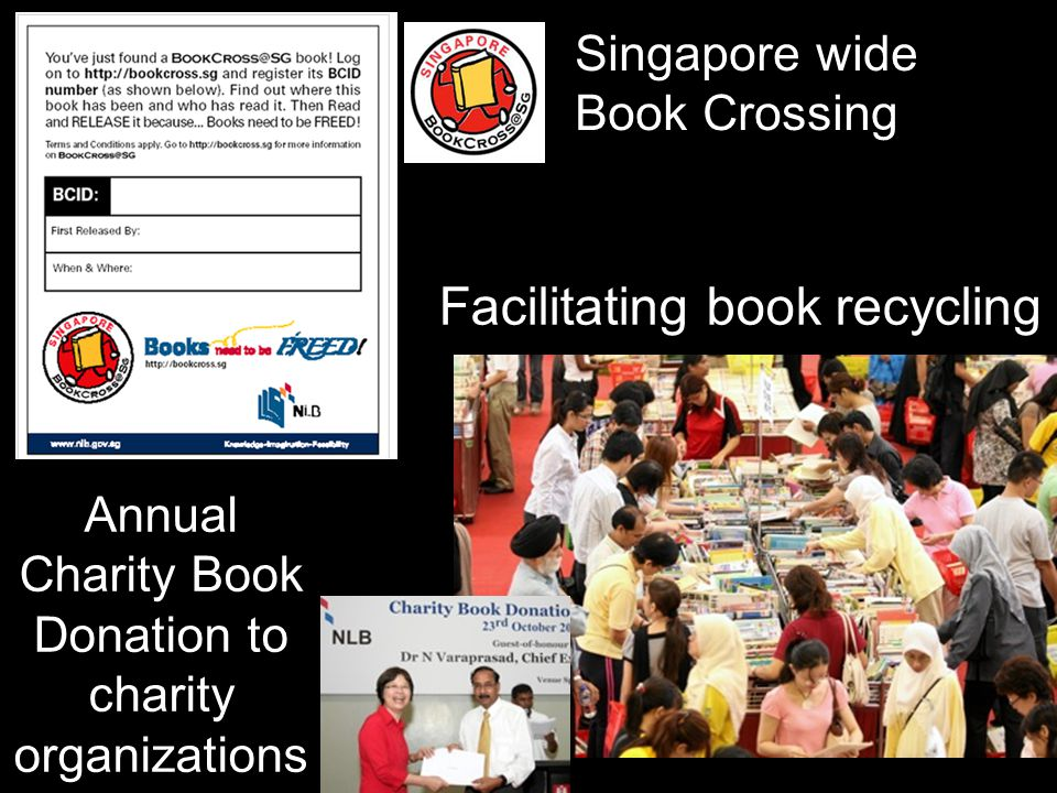 Facilitating book recycling Annual Charity Book Donation to charity organizations Singapore wide Book Crossing