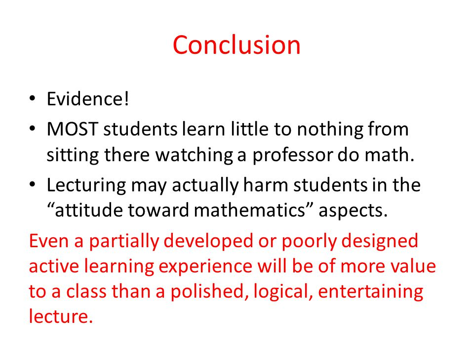 Conclusion Evidence.